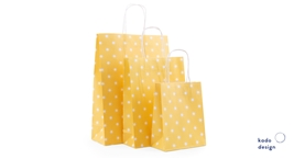 Twisted Handles Paperbag Sunshine Sorbet Yellow