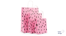 Twisted Handles Paperbag Sprinkles Bubbly Pink