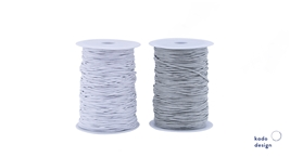 Cotton Cord Waxed White & Grey