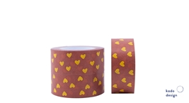 Paper Tape Handdrawns Hearts Choco Brown