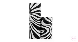 Wrapping Paper Zebra Black / White