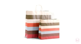 Paperbag colorfull stripes