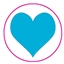Tissue Paper Big Heart Blue