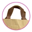 PP Papershopper with brown leather look handle medium