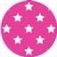 Tissue Paper Star Hot Pink