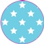 Tissue Paper Star Baby Blue