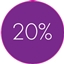 labels 20% discount Purple