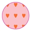 Vlakke Zakken Love Heart Baby Pink / Orange