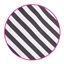 Paperbag Toptwist Diagonal Stripes Small Black