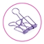 Binder Clips Large Purple