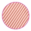 Blokbodemzak Happy Stripes Soft Pink / Brick Red