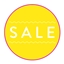 Sale Tags Neon Yellow Cotton Small