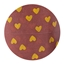 Paper tape handdrawn hearts - choco brown