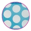 Luxe lint Dots Aqua + white dots 40 mm