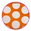 Luxe lint Dots Orange + white dots 40 mm