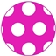 Medium Dots 17x25 Hotpink