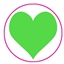 Tissue Paper Big Heart Fluor Green