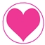 Tissue Paper Big Heart Fluor Pink