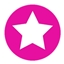 Stickers Star Hot Pink
