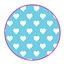 Tissue Paper Heart Baby Blue