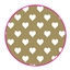 Tissue Paper Heart Gold
