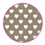 Tissue Paper Heart Taupe