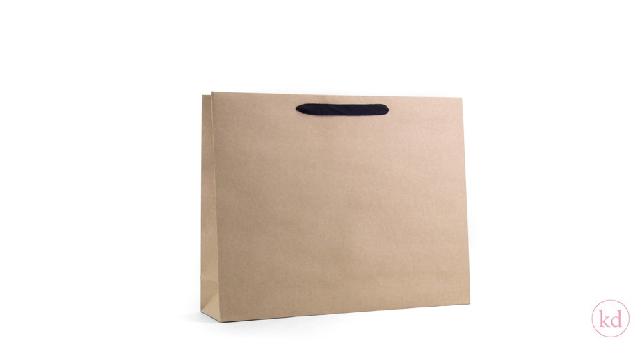 Paperbag Kraft With Black Handles